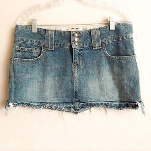 Abercrombie & Fitch Mini Distresed Denim Skirt